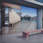 Pavillon inner space, 2019, 130x150cm, Öl auf Lw